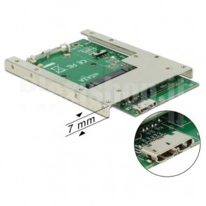 Convertitore USB 3.0 Micro B Femmina a mSATA 2.5''