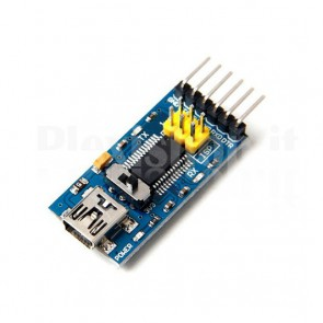 Convertitore USB RS232 TTL con FT232RL