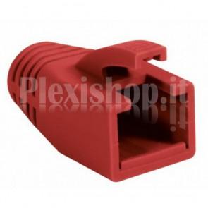 Copriconnettore per Plug RJ45 Cat.6 8mm Rosso