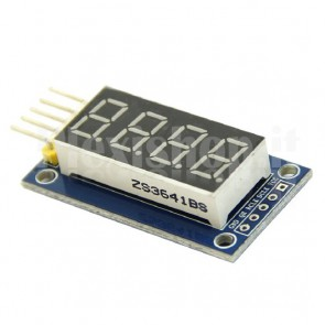 "Display LED 0.4"" a 4 digit I2C seriale, rosso"