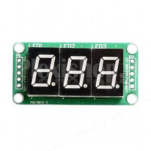 "Display LED 0.5"" a 3 digit I2C seriale, rosso"
