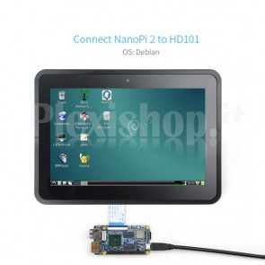 "Display touchscreen LCD TFT FriendlyARM HD101 da 10.1"""