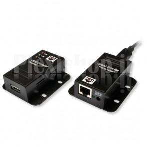 Extender 1 Porta USB su Cavo Cat.5/5e/6 fino a 50m, PoE