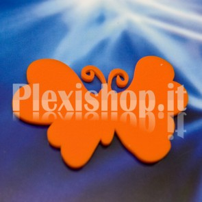 2 Orange Batterflies Plexiglass