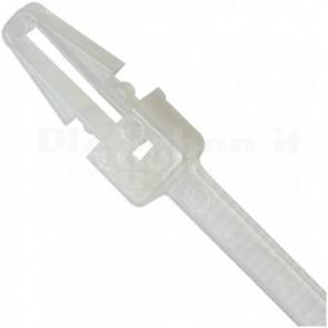 Fascette Fermacavi con Innesto Libero 200x4,8mm in Nylon 100pz Bianco