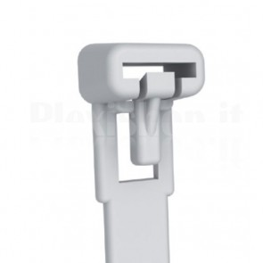 Fascette Fermacavi con Linguetta 300x7,6mm in Nylon 100pz Bianco