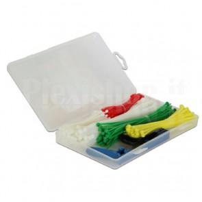 Fascette Fermacavo Colorate Kit da 350 pz con Utensile Tirafascette