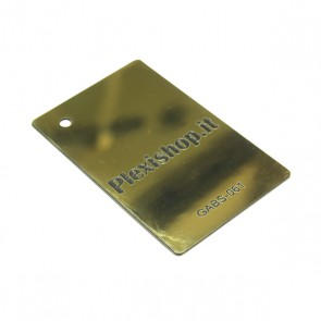 ABS Double Colour Shiny Gold/Black 1,5 mm