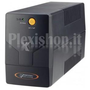 Gruppo di Continuità UPS X1 EX 700VA 2 Prese Schuko Nero