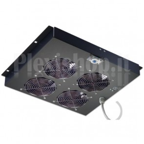 Gruppo di ventilazione a soffitto per Rack 19'' 4 Ventole Nero
