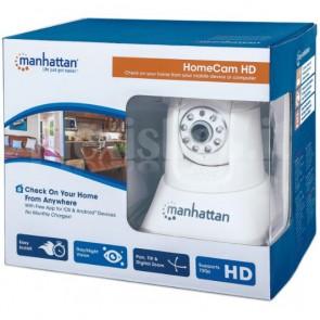 HomeCam Telecamera IP HD 720p Wireless con Visione Notturna Bianco