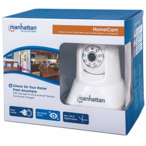 HomeCam Telecamera IP Wireless con Visione Notturna Bianco