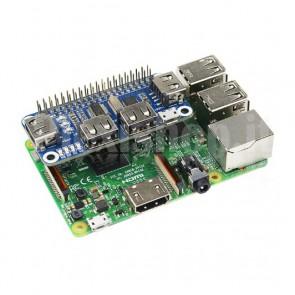 Hub USB 4 Porte per Raspberry Pi 2/3 B/B+ e Zero