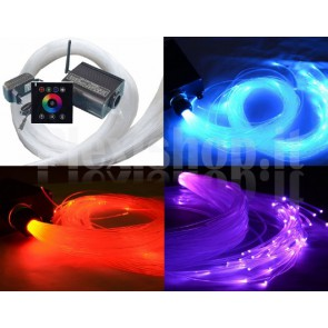 KIT LED RGBW 16W + fibra ottica + touch