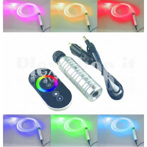 KIT LED RGBW 6W + fibra ottica + touch