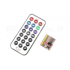 Kit ricevitore IR 8 canali con telecomando