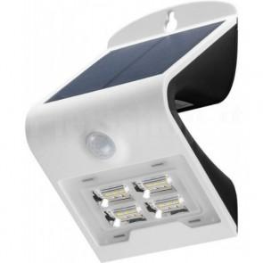 Lampada LED Solare a Muro 2W IP65 Sensore di Movimento Bianco