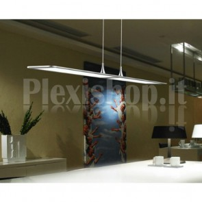 Lampada LED a Sospensione 28W 2700K Rettangolare Silver