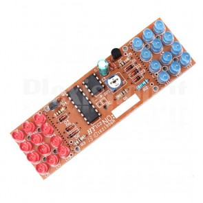 Lampeggiatore LED rosso-blu con NE555 e CD4017 in kit didattico