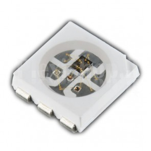 Led RGB 5Vdc WS2812S con controller integrato, package 5050