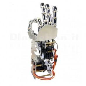 Mano destra a 5 dita per robot umanoide con servo, 5 gradi di libertà