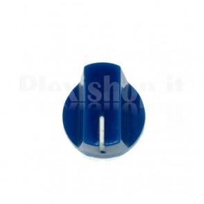 Manopola KN19 in abs per potenziometri - Blu