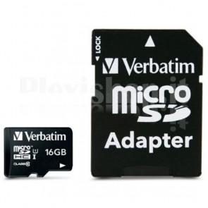 Memoria Micro SDXC 16 Gb con Adattatore - Classe 10