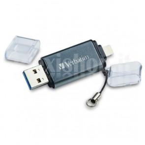 Memoria Verbatim Dual 32GB USB 3.0/Lightning Grigio