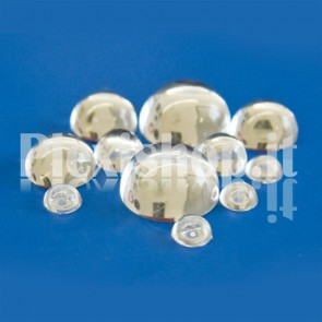 Flat base 16mm plexiglass knob