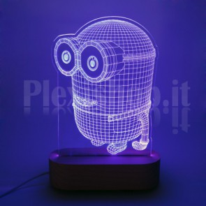 Lampada 3D Bomba Bianca
