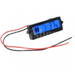 Indicatore pannello carica batteria, LCD retroilluminato blu