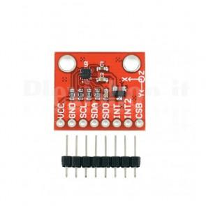 Modulo accelerometro a 3 assi con Bosh BMA222