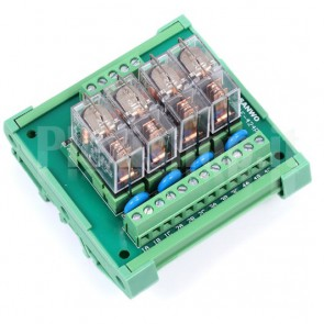 Modulo di potenza a 4 relè 12VDC, ingresso PNP, uscita fino a 16A
