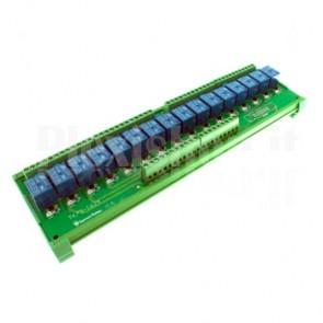 Modulo DIN Relay a 16 canali 24V 10A per PLC