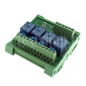 Modulo DIN Relay a 4 canali 3V 10A per PLC