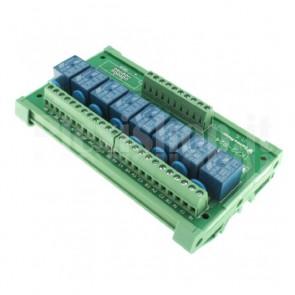 Modulo DIN Relay a 8 canali 24V 10A per PLC