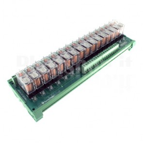 Modulo DIN Relay OMRON 16 CH 24V 16A per PLC