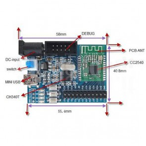 Modulo LC-WM-2540-SM Bluetooh 4.0 BLE con CC2540