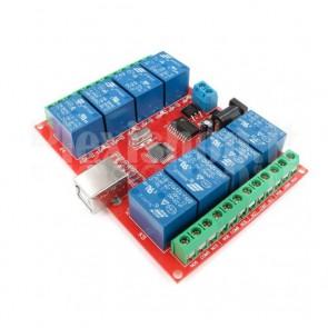 8 Channels USB Relay Module, 10A