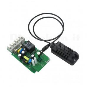 Modulo Sonoff TH10 Wi-Fi , monitor di temperatura e umidità tramite smartphone, 10A
