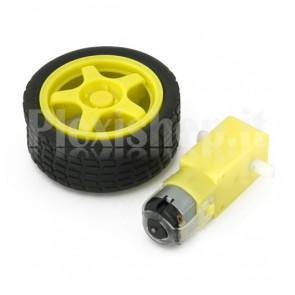 6V motor with wheel