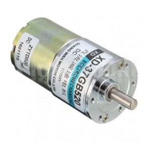 Motore elettrico con riduttore di giri, XD-37GB520, 12Vcc 100RPM
