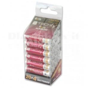 Multipack 24 Batterie Power Plus Mini Stilo AAA Alcaline LR03 1,5V