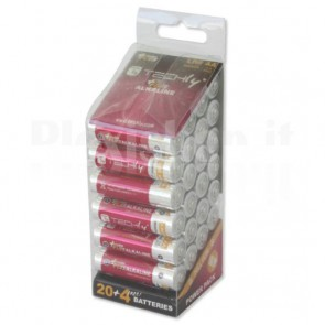 Multipack 24 Batterie Power Plus Stilo AA Alcaline LR06 1,5V