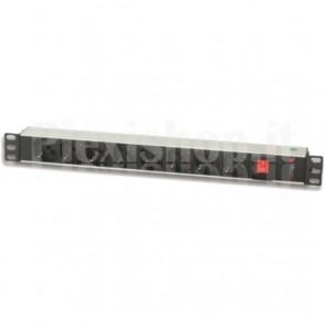 Multipresa 8 Posti da Rack 19'' Connettore C14 con Interruttore 1 HE