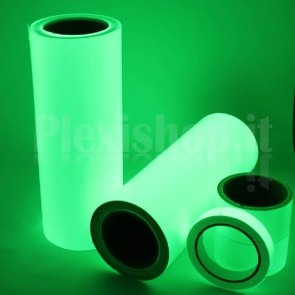 Nastro adesivo fluorescente verde, 10mm