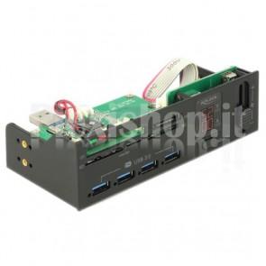 Pannello Frontale Multifunzione USB3.0 da 5,25'' con Controllo Ventola