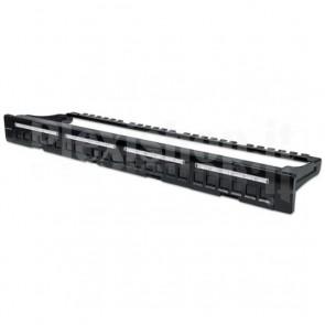 Pannello Patch Modulare 24 Porte Slim 1U Nero