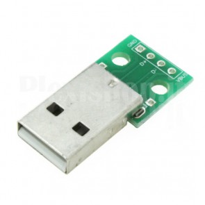 PCB DIP demoboard USB 2.0 di tipo A maschio