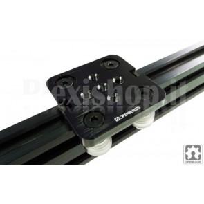 Piastra in alluminio mini V-Slot, 50x50